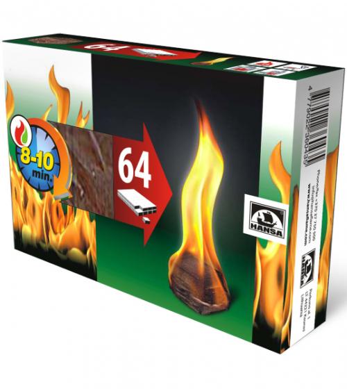 Kocke za podžig 64 kosov